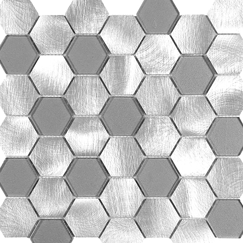 Hexagon-Silver-Grey-Glass